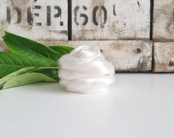 50g of Lyocell Tops /Roving || Natural White || DHG Italy