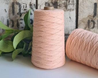 Peach Coloured Crochet and Warp Cotton Cord || 500g || 1.5mm