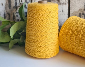 Dandelion Yellow Coloured Crochet and Warp Cotton Cord || 500g || 1.5mm