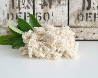 50g of Merino Wool Nepps || Natural White || DHG Italy