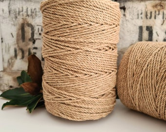 Jute Craft and Macrame Cord || 3 Ply Rope || 1.2kg