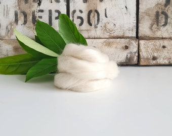 50g of Mohair Wool Tops/Wool Roving || DHG Italy