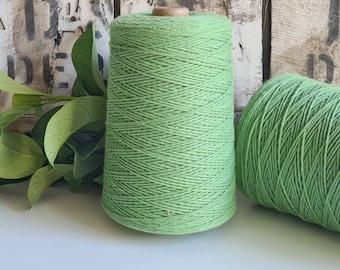 Avocado Green Coloured Crochet and Warp Cotton Cord || 500g || 1.5mm