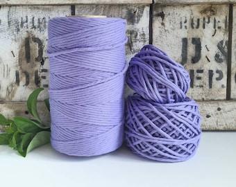 Lavender Macrame Cord - Single Twist    4mm