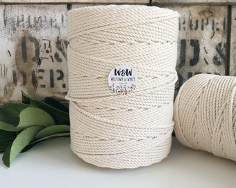 4mm Macrame Rope    Natural    4 Ply rope
