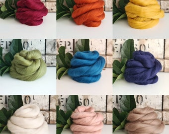 50g of Extra Fine Merino Wool Tops/Wool Roving || DHG Italy