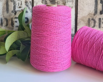 Magenta Coloured Crochet and Warp Cotton Cord || 500g || 1.5mm