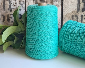 Turquoise Blue Coloured Crochet and Warp Cotton Cord || 500g || 1.5mm