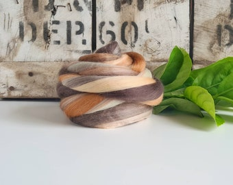 50g of Extra Fine Merino Wool Tops/Wool Roving || Monna Lisa || DHG Italy