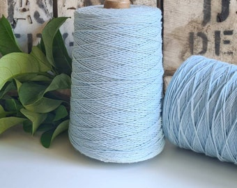 Sky Blue Coloured Crochet and Warp Cotton Cord || 500g || 1.5mm