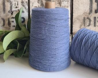 Cornflower Blue Coloured Crochet and Warp Cotton Cord || 500g || 1.5mm