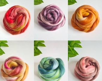 50g of Blended Extra Fine Merino Wool Tops/Wool Roving || Tempera Collection || DHG Italy