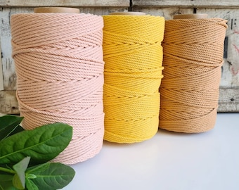 Coloured Macrame Rope || 4mm || 4 Ply rope