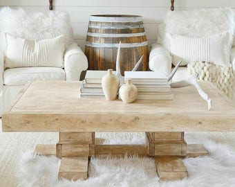 Farmhouse Coffee Table, Reclaimed Wood Coffee Table, Square Coffee Table, Country French Decor, Wood Furniture, Wood Table, Minimal Table