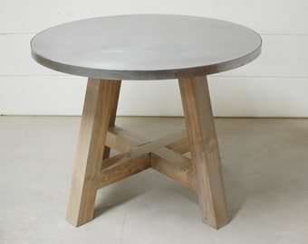 zinc dining table dining room round dining table zinc industrial table top kitchen furniture zinc table etsy