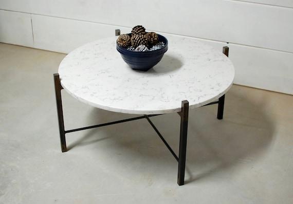 Stupendous Round White Marble Coffee Table Round Coffee Table Industrial Furniture Living Room Furniture Marble Table Steel Round Marble Table Lamtechconsult Wood Chair Design Ideas Lamtechconsultcom