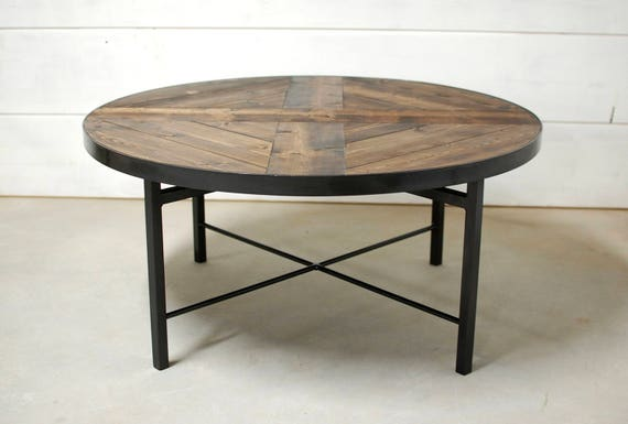Fantastic Round Industrial Coffee Table Farmhouse Table Wood Coffee Table Industrial Table Reclaimed Wood Table Coffee Table Round Table Lamtechconsult Wood Chair Design Ideas Lamtechconsultcom