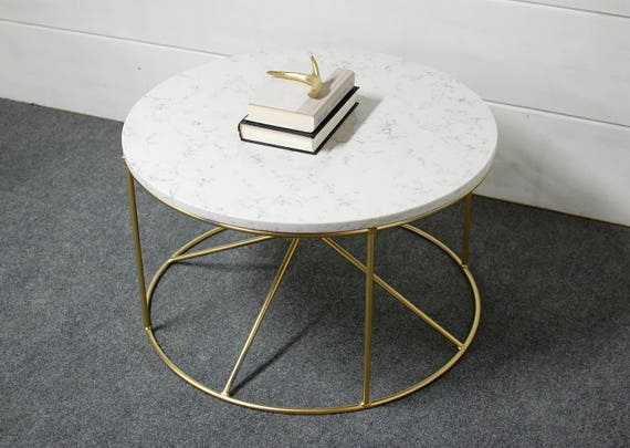 Pleasing Round White Marble Coffee Table Round Coffee Table Industrial Furniture Living Room Furniture Marble Table Steel Modern Table Lamtechconsult Wood Chair Design Ideas Lamtechconsultcom