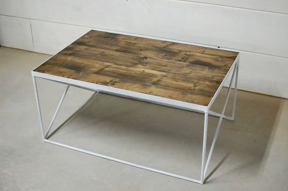 Industrial Wood Coffee Table, Living Room Furniture, Square Table, Wood  Furniture, Contemporary Table, Beach Decor, Wood Table - FREE Ship