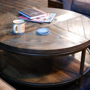 Surprising Round Coffee Table Etsy Lamtechconsult Wood Chair Design Ideas Lamtechconsultcom