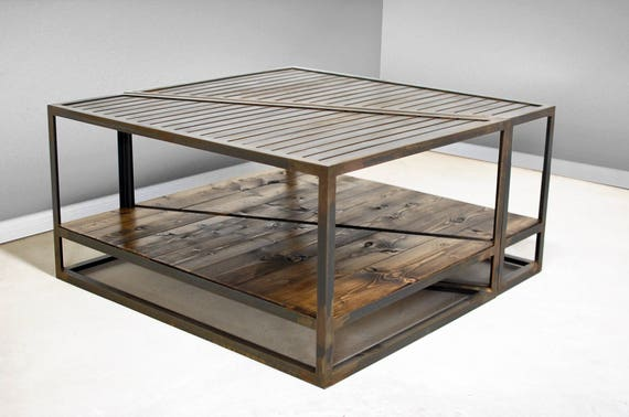 Industrial Coffee Table Two Tier Table Industrial Furniture Etsy