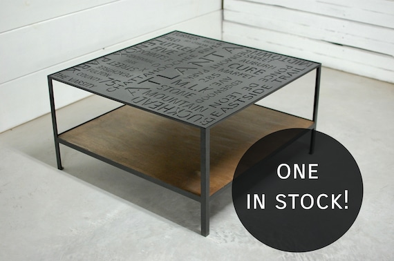 Industrial Wood Coffee Table Two Tier Table Wood Furniture Etsy