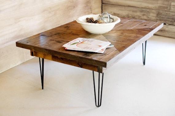 Mid Century Modern Coffee Table Hairpin Legs Industrial Etsy