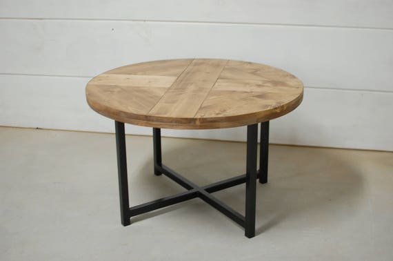 Amazing Round Industrial Coffee Table Round Coffee Table Reclaimed Wood Furniture Industrial Furniture Reclaimed Wood Table Round Table Lamtechconsult Wood Chair Design Ideas Lamtechconsultcom