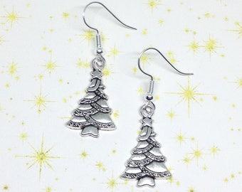 Christmas Tree Earrings, Xmas Earrings, Tree Earrings, Festive Earrings, Xmas Jewellery, Xmas Tree Earrings, Festive Gift, Stocking Filler