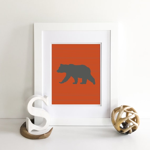 Rustic Nursery Decor - Bear Print - Bear Nursery Decor - Farmhouse Decor Rustic Country - Woodland Nursery Decor - Mountain Decor - Country