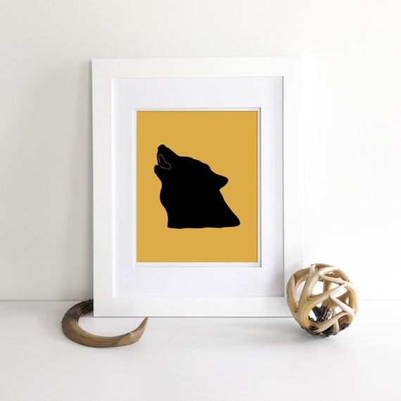 Wolf Print - Moose - Moose Decor - Bear Print - Woodland Nursery Decor - Nursery Woodland Prints - Bear Nursery Decor - Woodland Nursery