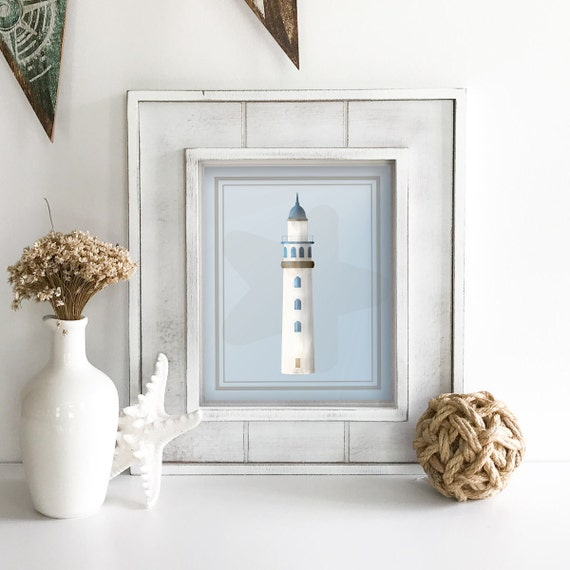 Light House - Light House Wall Decor - Lake House Decor - Coastal Wall Art - Light House Nursery - Light House Bathroom Decor