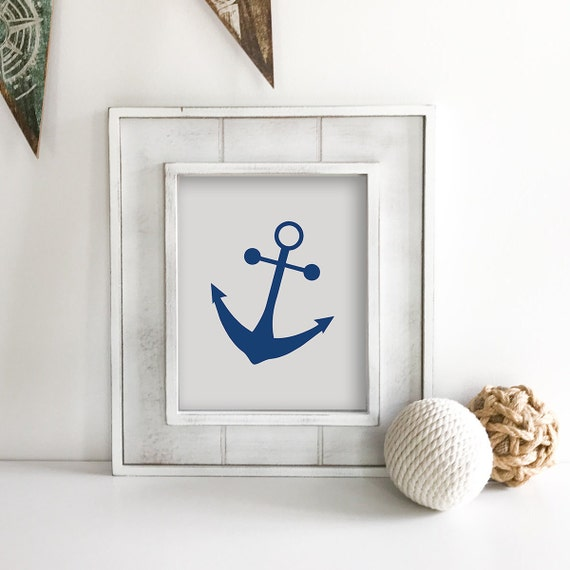 Anchor Nursery - Anchor Wall Decor - Nautical Nursery - Seahorse - Ship Wheel - Sea Turtle - Nautical Baby Shower - Ocean Nursery