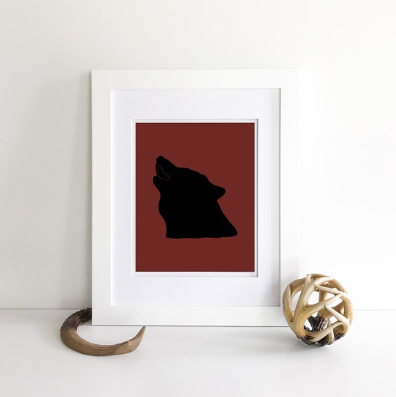 Wolf Print - Mountain Wall Decor - Woodland Nursery Decor - Wilderness Nursery - Nursery Woodland Prints - Woodland Nursery Wall Art