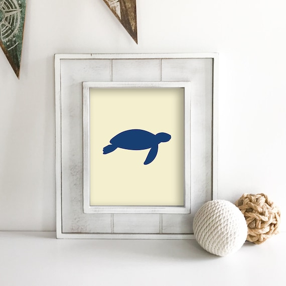 Sea Turtle - Seahorse - Ship Wheel - Nautical Nursery - Sea Animals - Nautical Baby Shower - Coastal Wall Art - Ocean Nursery - Ocean