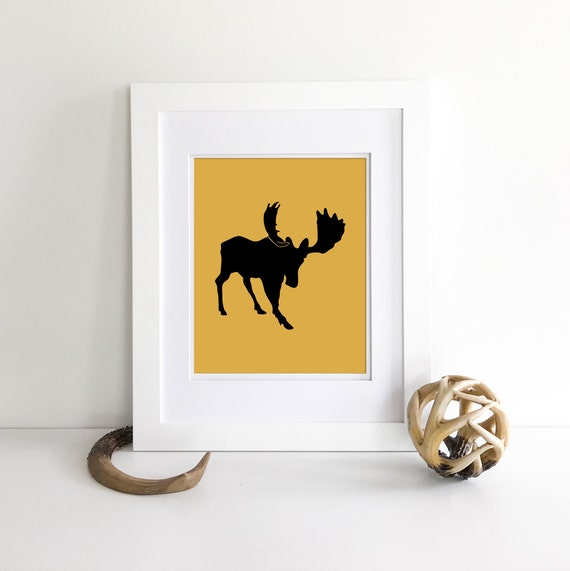 Moose - Moose Decor - Bear Print - Wolf Print - Woodland Nursery Decor - Nursery Woodland Prints - Bear Nursery Decor - Woodland Nursery