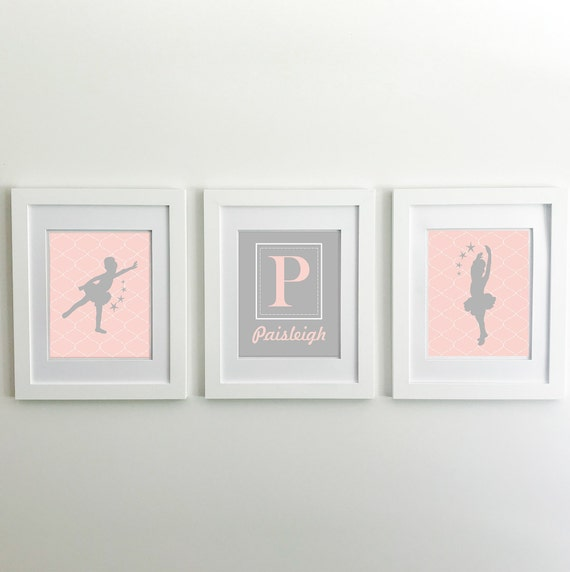 Ballerina Nursery Decor - Princess Nursery Decor - Ballerina Print - Ballerina Wall Art - Little Girls Nursery Art - Ballerina Silhouette