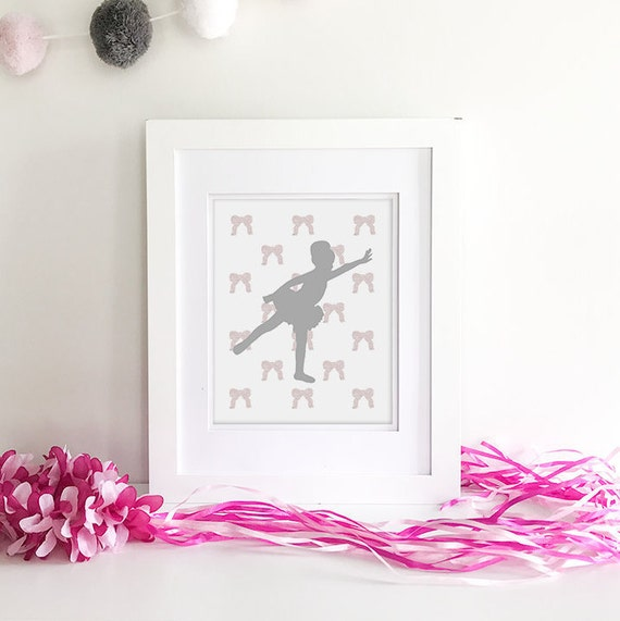 Ballerina Wall Art - Ballerina Print - Princess Baby Shower - Ballet Shoes - Princess Nursery - Ballerina Baby - Princess Nursery Decor