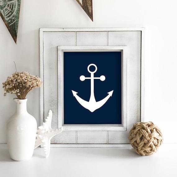 Nautical Nursery - Anchor Wall Decor - Sailboat - Nautical Baby Shower - Coastal Wall Art - Coastal Wall Decor - Ocean Nursery - Ocean