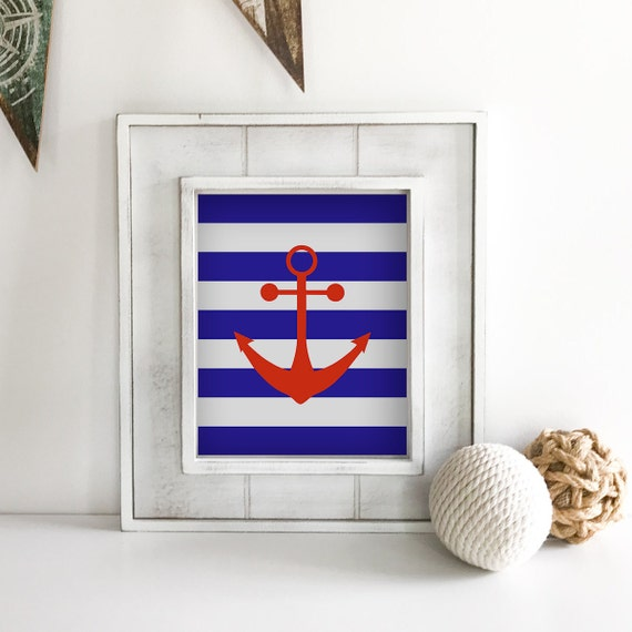 Anchor Wall Decor - Sailboat - Nautical Nursery - Nautical Baby Shower - Coastal Wall Art - Ship Wheel - Lake House Decor - Ocean