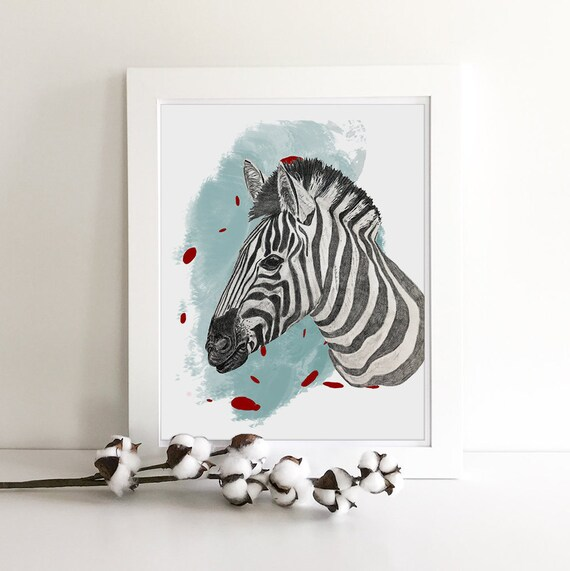 Jungle Animals - Zoo Animals - Zebra Print - Giraffe Print - Jungle Nursery - Nursery Safari Decor - Giraffe Art - Zebra Decor