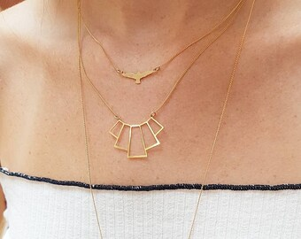 Dainty Necklace, Gold Or Silver Seagull Charm Necklace, Birthday Gift, delicate eagle bird Necklace, laser cut jewelry, gift for her