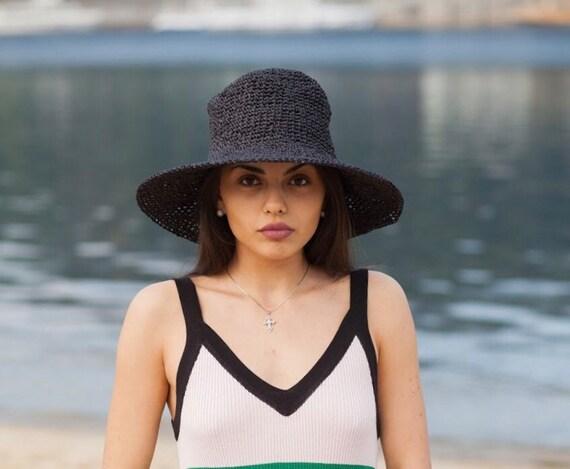 Black women hat beach hat custom gift women fedora hat  e2ab4db468a1