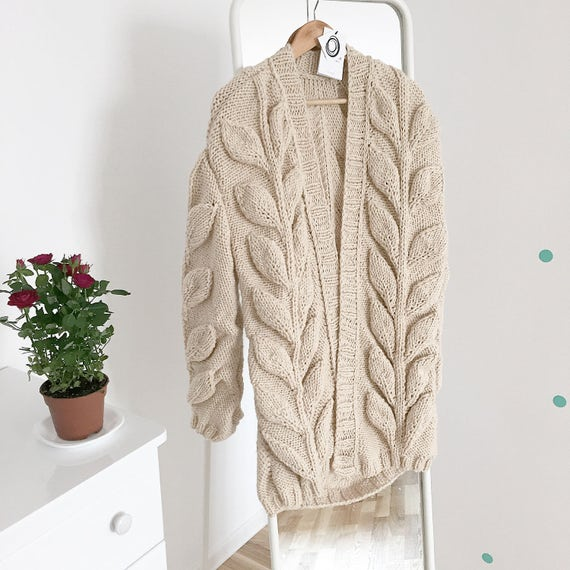 sweater coat knit women spring hand wool knitted bohemian cardigan chunky coat Cardigan cardigan oversized hand cable knitted bulky AwzqTT7C