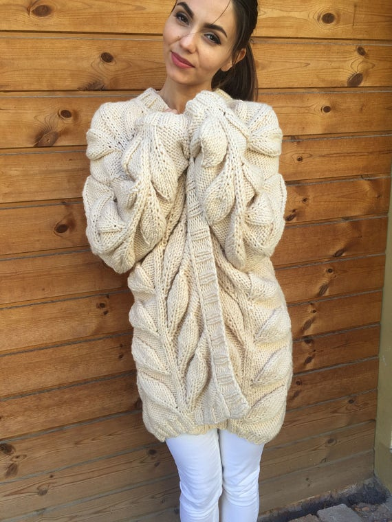 cardigan bohemian Cardigan chunky hand cardigan coat hand coat women knitted bulky knit spring oversized cable knitted wool sweater qqxROwHr5
