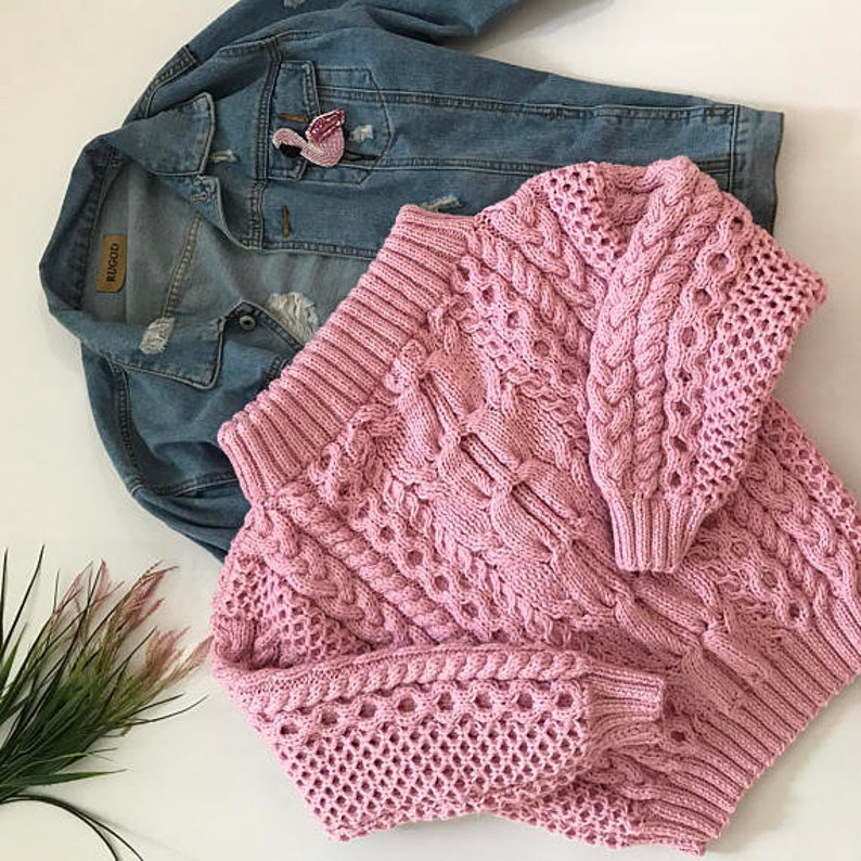 d7883e197e2e0 Pink knit sweater oversized women clothing off shoulder