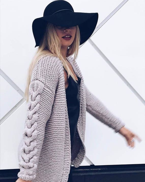 crochet urban fashion wear knitted street knit cardigan street cable Custom women's for cardigan clothing jacket spring oversized clothes 1wdxYB