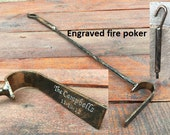 Fire poker, hand forged fire poker, fireplace, fireside, wrought iron poker, fire tool, log burner, fire pit, hearth, fire set,gift for him