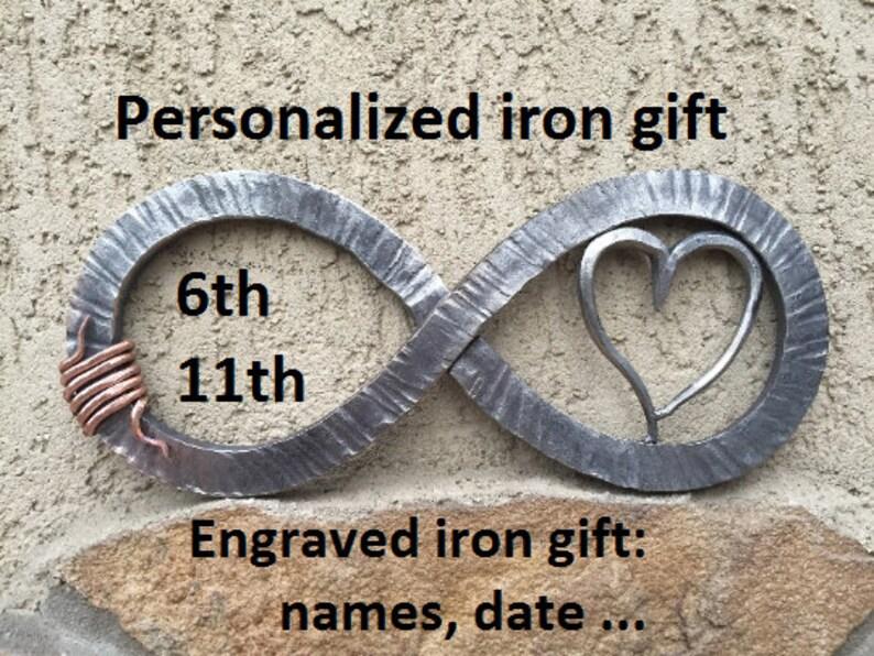 image 0 & 6th anniversary gift 11th anniversary gift iron anniversary | Etsy