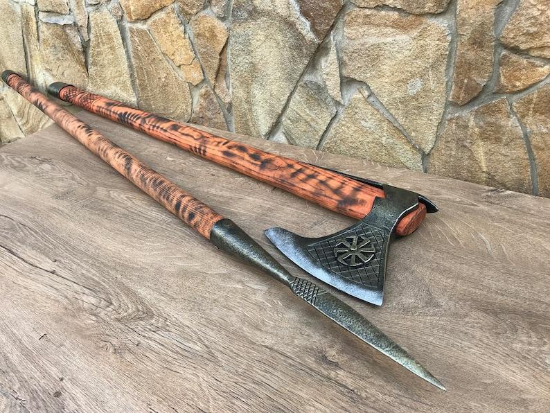 viking shield viking sword medieval decor viking battle axe viking weapon viking artifact Viking axe viking spear viking wall decor